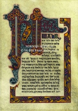 celtic calligraphy, celtic book illustration, Iro-keltische Kalligrafie, Iro-keltische Buchillustration, Norman Hothum